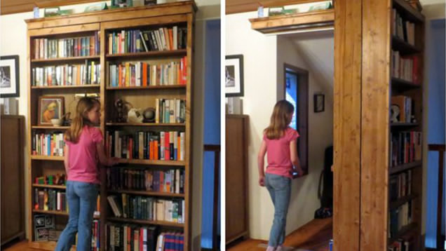 DIY Sliding Bookshelf Door For Your Secret Room