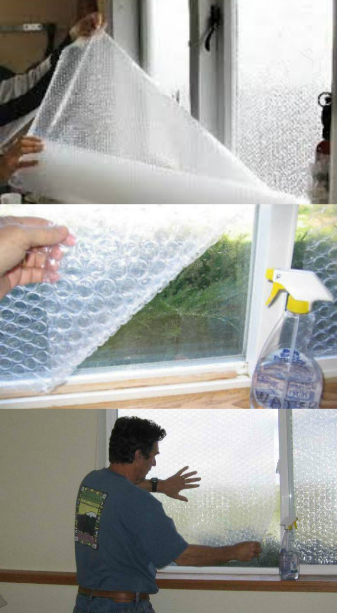Diy Window Insulation Using Bubble Wrap