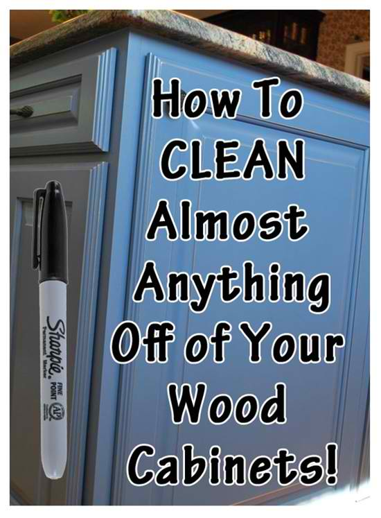 How To Clean Almost Everything Off Your Wood Cabinet