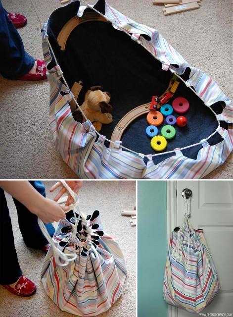 How to Make a Floor Sack to Hold Toys