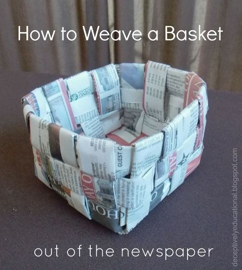 How to Weave a Basket out of the Newspaper