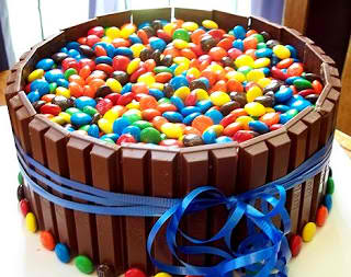 Kitkat and M&Ms Birthday Cake