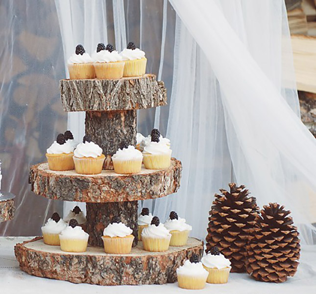 Make a Cupcake Stand out of a Tree Branch