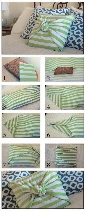 Diy Cute Pillow No Sew : No Sew Pillow - The Easiest Pillow Cover Ever!