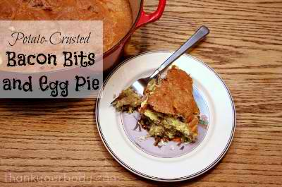 Potato-Crusted Bacon Bits and Egg Pie Recipe