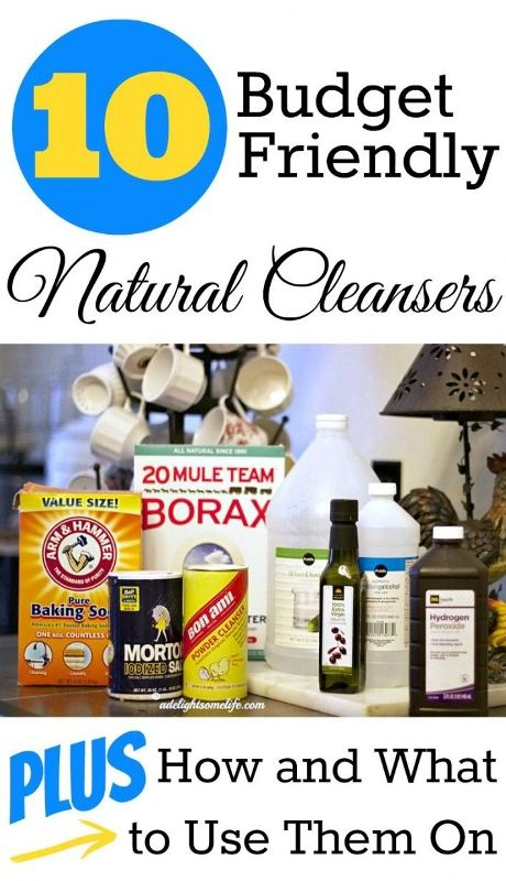 Ten Budget Friendly Natural Cleaning Ideas
