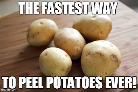 The Fastest Way Ever to Peel a Potato!