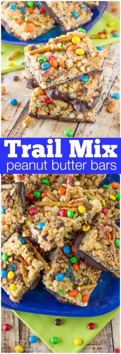 Trail Mix Peanut Butter Bars