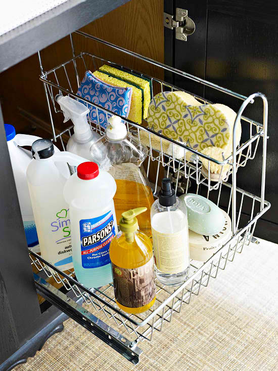 Tricks to Under the Sink Kitchen Organization