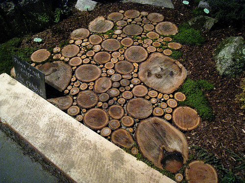 Wood Slice Walkway Inspiration