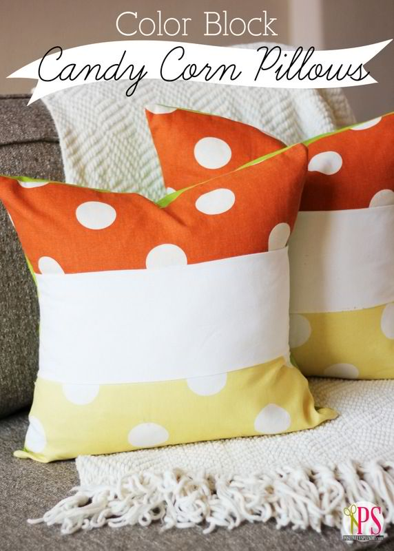 Color Block Candy Corn Pillow