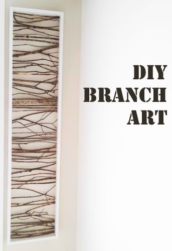 DIY Cheap Branch Art