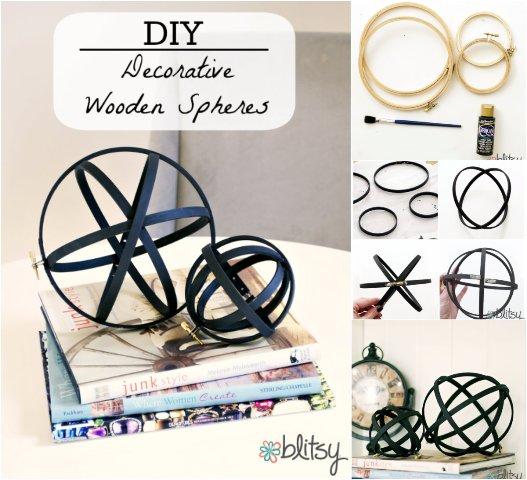 DIY Decorative Wooden Spheres