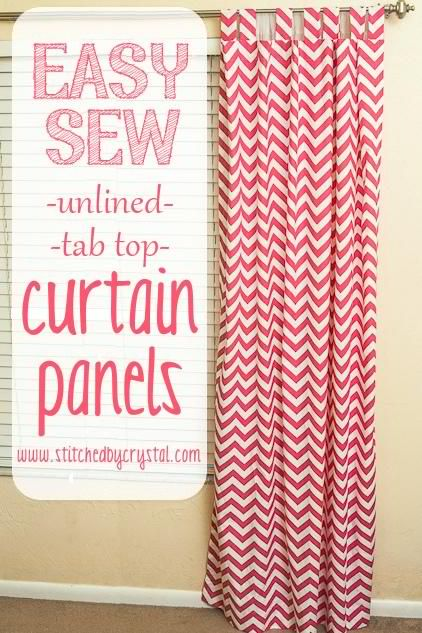 DIY Easy Sew Curtains