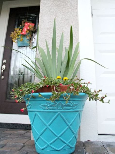 DIY ceramic pot Makeover for Summer