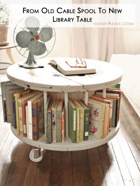 From Old Cable Spool To New Library Table