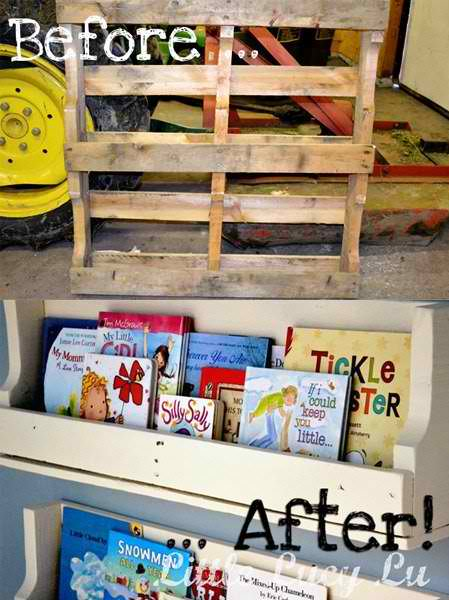 From Pallet to Amazing Bookshelf!