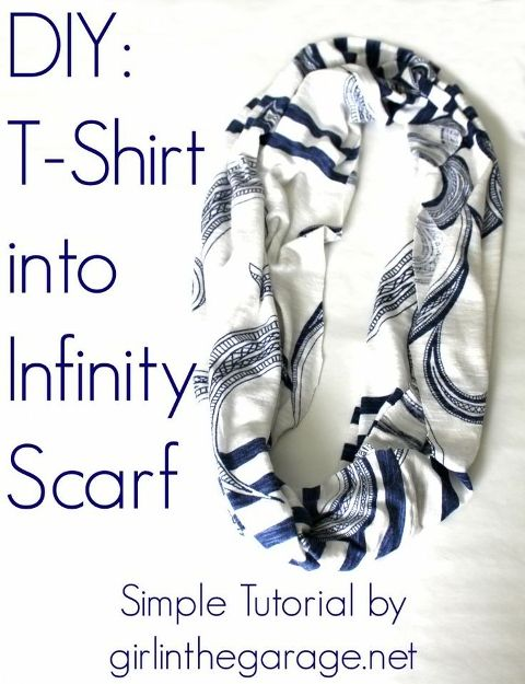 How to Turn a Shirt to an Infinity Scarf