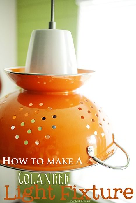 How to make a Colander Light Fixture
