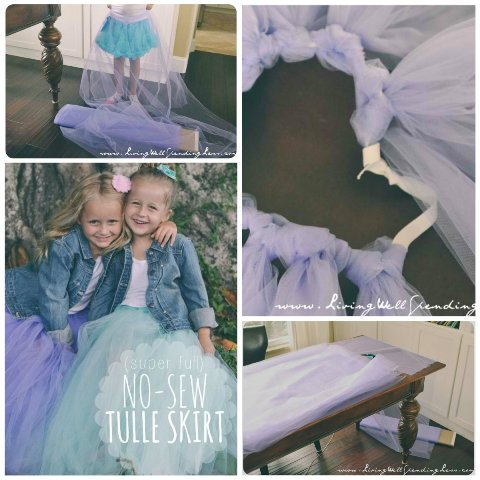 No-Sew Super Full Tulle Skirt
