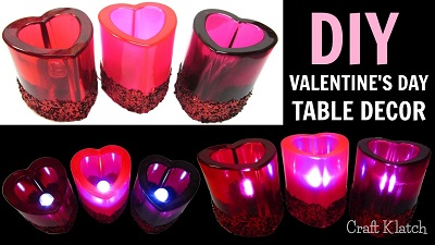 Resin Valentine's Day Table Decor