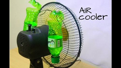 DIY Air Conditioner Using Plastic Bottles