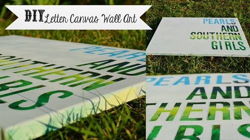 DIY Letter Canvas Wall Art