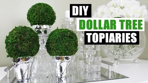 Dollar Store DIY Round Topiary