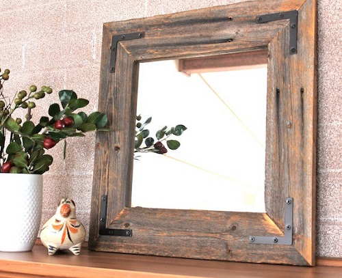 DIY Rustic Wood Mirror