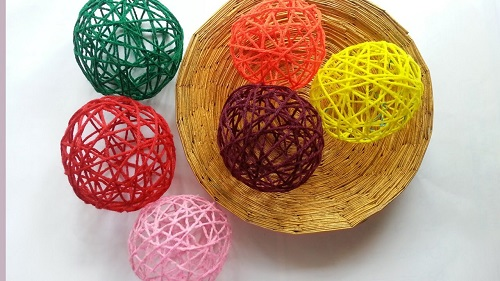 Create Decorative Yarn Balls