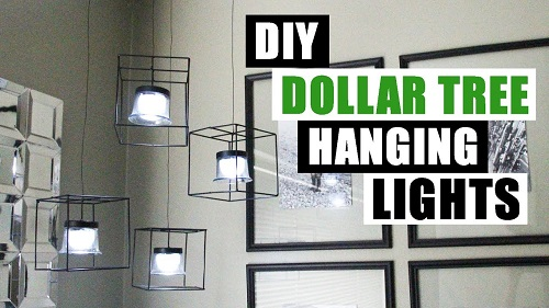 DIY Dollar Tree Hanging Lights