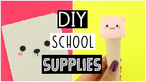 DIY SCHOOL SUPPLIES For Back To School 2017
