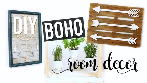 DIY Boho Style Room Decor