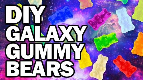DIY Galaxy Gummy Bears