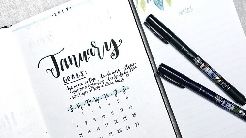 Bullet Journal January 2018