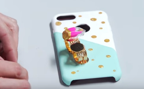 DIY Gemstone Phone Case