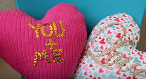 Dollar Tree DIY Heart Shaped Pillows