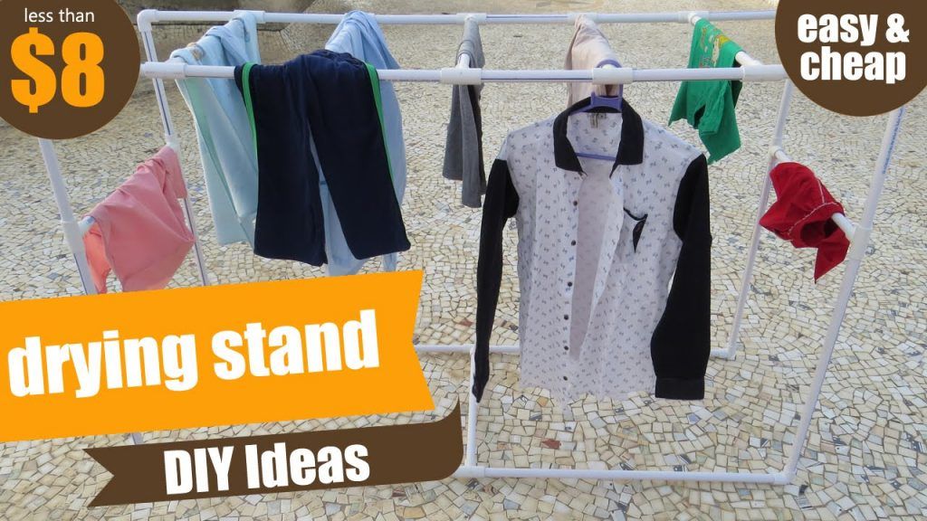 Pvc Clothes Drying Rack Or Stand Pvc Pipe Project Pvc Pipes Diy