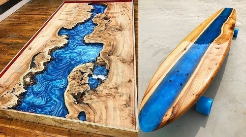 Epoxy Wood Resin Tables And Skateboards