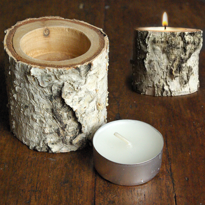 How To Make Birch Wood Candle Holders