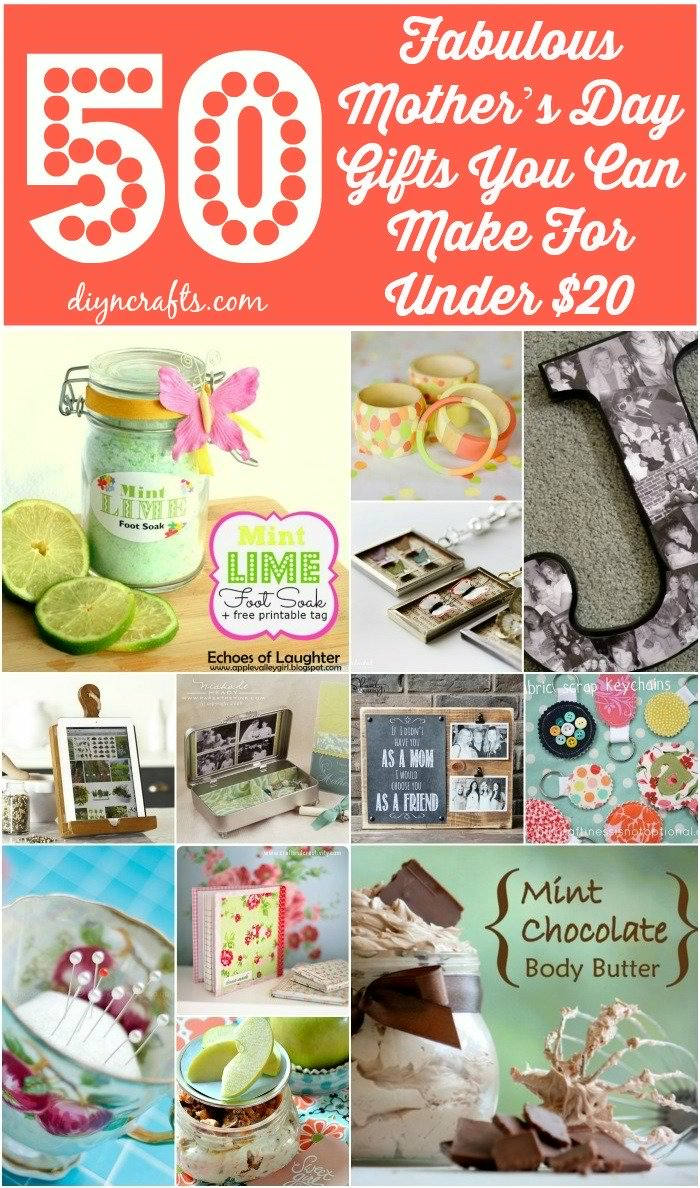 50 Fabulous Mother\u2019s Day Gifts You Can Make For Under $20