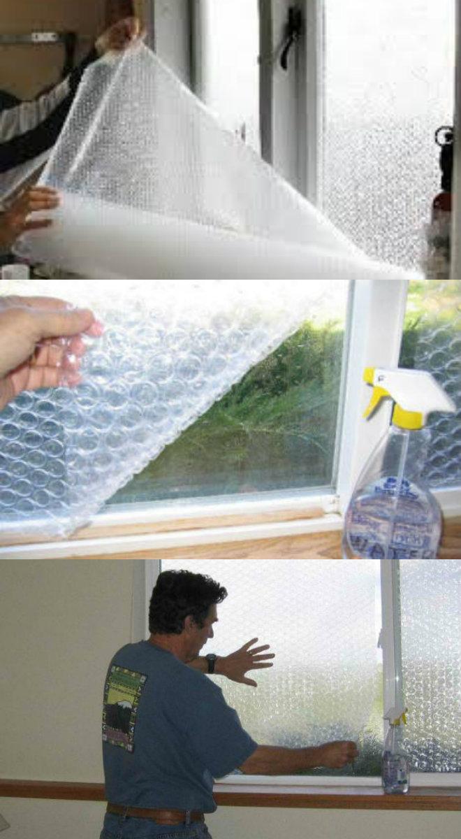diy window insulation using bubble wrap